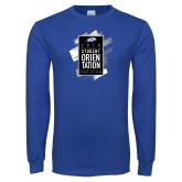 Royal Long Sleeve T Shirt-2018 Student Orientation