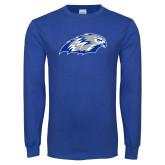Royal Long Sleeve T Shirt-Hawk Head