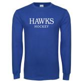 Royal Long Sleeve T Shirt-Hockey