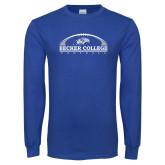 Royal Long Sleeve T Shirt-Football Graphic