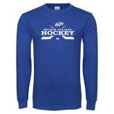 Royal Long Sleeve T Shirt-Hockey Graphic