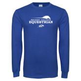 Royal Long Sleeve T Shirt-Equestrian Graphic