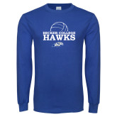 Royal Long Sleeve T Shirt-Volleyball Graphic