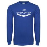Royal Long Sleeve T Shirt-Softball Graphic