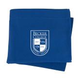 Royal Sweatshirt Blanket-Becker College Shield