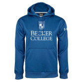 Under Armour Royal Performance Sweats Team Hoodie-Shield w/ Becker College Stacked