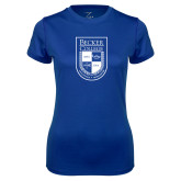Ladies Syntrel Performance Royal Tee-Becker College Shield