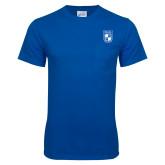 Royal T Shirt w/Pocket-Becker College Shield