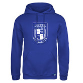 Russell DriPower Royal Fleece Hoodie-Becker College Shield