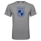 Grey T Shirt-Becker College Shield