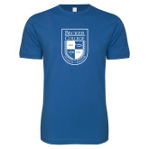 Next Level SoftStyle Royal T Shirt-Becker College Shield