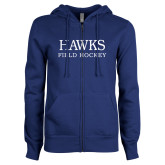 ENZA Ladies Royal Fleece Full Zip Hoodie-Field Hockey