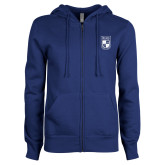 ENZA Ladies Royal Fleece Full Zip Hoodie-Becker College Shield