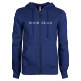 ENZA Ladies Royal Fleece Full Zip Hoodie-Wordmark