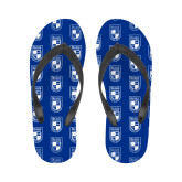 Ladies Full Color Flip Flops-Becker College Shield