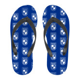 Full Color Flip Flops-Becker College Shield