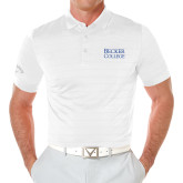 Callaway Opti Vent White Polo-Becker College Stacked