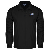 Full Zip Black Wind Jacket-Hawk Head