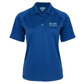Ladies Royal Textured Saddle Shoulder Polo-Becker College Stacked