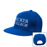 Royal Flat Bill Snapback Hat-Becker College Stacked