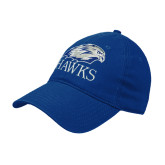 Royal Twill Unstructured Low Profile Hat-Hawks Logo