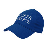 Royal Twill Unstructured Low Profile Hat-Becker College Stacked