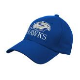 Royal Heavyweight Twill Pro Style Hat-Hawks Logo
