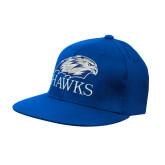 Royal OttoFlex Flat Bill Pro Style Hat-Hawks Logo