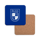 Hardboard Coaster w/Cork Backing-Becker College Shield