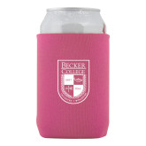 Neoprene Hot Pink Can Holder-Becker College Shield