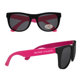 Black/Hot Pink Sunglasses-Becker College Wordmark
