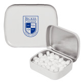 White Rectangular Peppermint Tin-Becker College Shield
