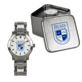 Mens Stainless Steel Fashion Watch-Becker College Shield