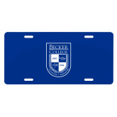 License Plate-Becker College Shield