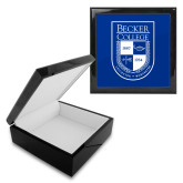 Ebony Black Accessory Box With 6 x 6 Tile-Becker College Shield
