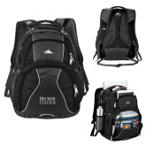 High Sierra Swerve Black Compu Backpack-Becker College Stacked