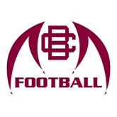 Large Decal-Football, 12 in W