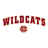 Large Decal-Wildcats w/BC Logo, 12 in W