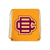 Nylon Gold Drawstring Backpack-BC Logo
