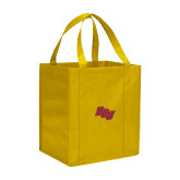 Non Woven Gold Grocery Tote-BCU