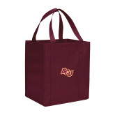 Non Woven Maroon Grocery Tote-BCU