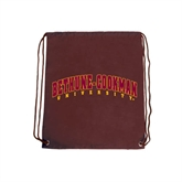 Nylon Maroon Drawstring Backpack-Bethune-Cookman University