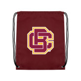 Maroon Drawstring Backpack-Primary Mark