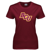 Ladies Maroon T Shirt-BCU