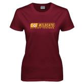 Ladies Maroon T Shirt-Wildcats in Box