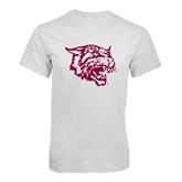 White T Shirt-Wildcat Head