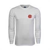 White Long Sleeve T Shirt-BC Logo