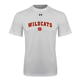 Under Armour White Tech Tee-Wildcats w/BC