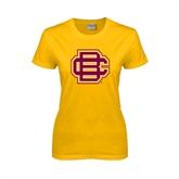 Ladies Gold T Shirt-BC Logo