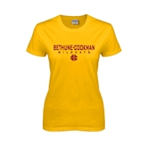Ladies Gold T Shirt-Bethune-Cookman Wildcats